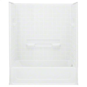 """All Pro®, Series 6104, 60"""" x 30"""" x 73-1/2"""" Bath/Shower with Age in Place Backers - Right-hand Drain - White Product Image"""