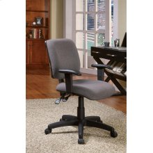 "OFFICE CHAIR,GREY 25-1/2""Dx26-1/2""Wx35-3/4"