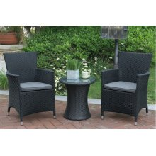 108 / Liz.p4- 3PC OUTDOOR BISTRO SET [P50261(1)+P50131(2)]