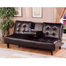 7502 Espresso Futon with Cup Holder