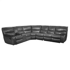 4-Piece Modular Reclining Sectional with Left Console