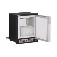 "15"" Marine Crescent Ice Maker Black Solid Field Reversible (220-240v)"