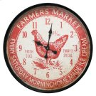 Farmers Market Red Wall Clock Product Image