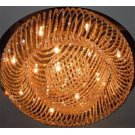 Crystal Flush Mount Lamp, Chrome/crystals, Type Jc/g4 20wx18 Product Image
