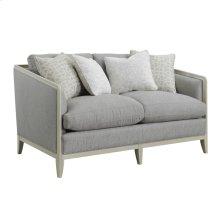 Loveseat W/4 Accent Pillows- Gray #tucker-7