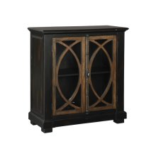 Two Door Circle Lattice Entertainment Center