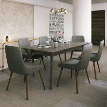 Mira/Mia 7pc Dining Set, Grey/Dark Grey
