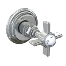 Savina Port Diverter Valve Cross Handle Trim Only - Polished Chrome