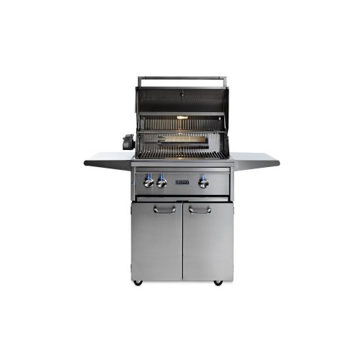 "27"" Lynx Professional Freestanding Grill with 1 Trident and 1 Ceramic Burner and Rotisserie, NG"