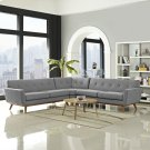 Engage L-Shaped Sectional Sofa in Expectation Gray Product Image