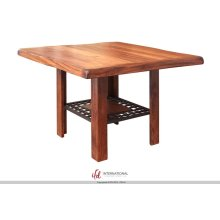 Counter Height Dining Table w/Iron Shelf - KD System