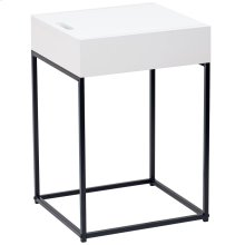 Eryk Accent Table in White