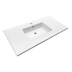 "Hartley 43"" Vanity Top - Single Hole Product Image"