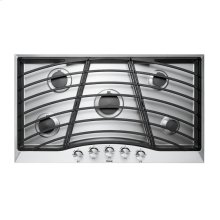 """Stainless Steel 36"""" Continuous Grate Gas Cooktop - DGSU (36"""" wide, five burners)"""