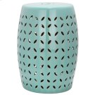 Lattice Petal Garden Stool - Robins Egg Blue Product Image