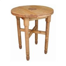 Round Leg Bar Table W/star