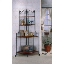 "CORNER RACK, DIRTY OAK/F 24.5""X24.5""X72""H"