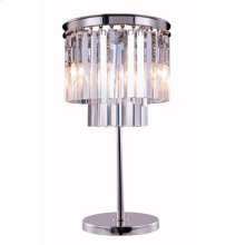1201 Sydney Collection Table Lamp Polished Nickel Finish
