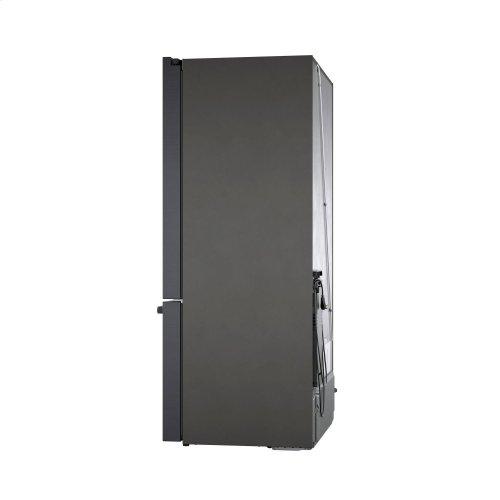 800 Series French Door Bottom Mount Refrigerator Black stainless steel B36CT80SNB