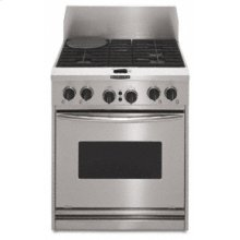 "30"" Width 4 Burners Porcelain-on-Steel Cooktop True Convection Oven Architect® Series Dual Fuel Freestanding or Slide-In Range"