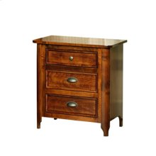 Hudson 3-Drawer Nightstand