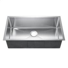 "Fabyan Single Bowl Stainless Kitchen Sink - 32"" x 19"""