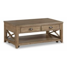 Camden Rectangular Coffee Table with Casters