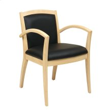 Napa Maple Guest Chair With Full Cushion Back