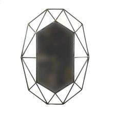 Bronze Metal Hexagon Mirror