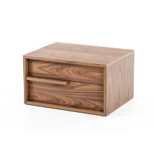 Modrest Beth Modern Walnut Nightstand