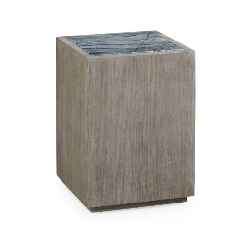 Square End Table with Marble Top