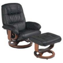 R-028 Mario Black Leather Recliner
