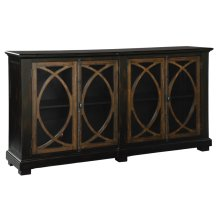 Four Door Circle Lattice Entertainment Center