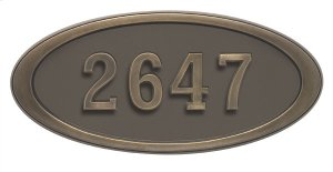 Large Oval HouseMark ® Address Plaques Product Image
