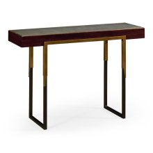 Langkawi rectangular console table with Anthracite Faux Shagreen top