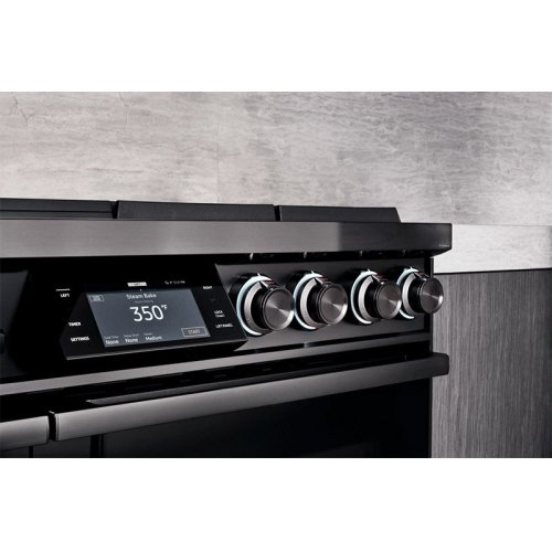 """48"""" Pro Dual-Fuel Steam Range, Silver Stainless Steel, Natural Gas"""