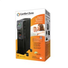 CZ9009 Oil-Filled Electric Radiator Heater, Black
