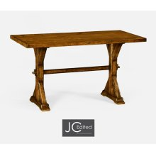 "54"" Solid Country Walnut Dining Table"