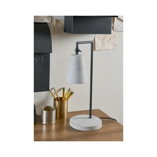 Cement Grey Cement & Metal Mini Table Lamp