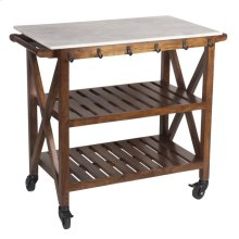 Marble Top Bar Cart