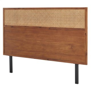 Caine KD Rattan Queen Headboard, Brown