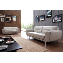 Divani Casa 0857 Modern Grey Leather Sofa Set