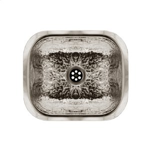 """Decorative Prep rectangular, undermount entertainment/prep sink with a hammered textured bowl, and a 2"""" center drain. Product Image"""