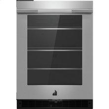 "RISE™ 24"" Under Counter Glass Door Refrigerator, Left Swing, RISE"