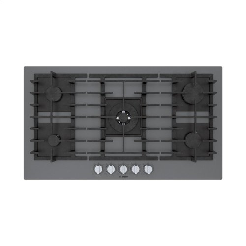 Benchmark® Gas Cooktop 36'' dark silver