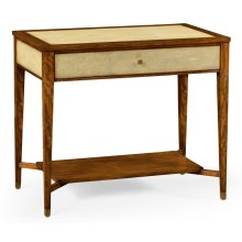 Ivory Shagreen Rectangular Sofa Table with Drawer