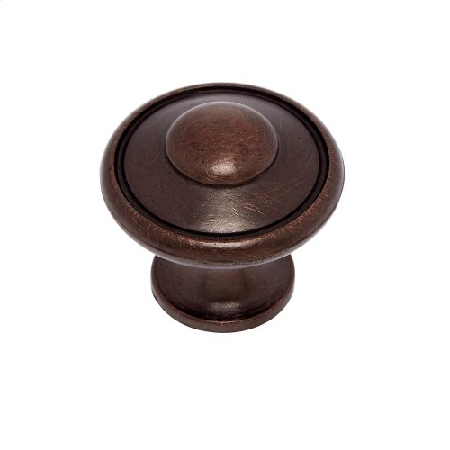 "Old World Bronze 1-3/16"" Large Button Knob"