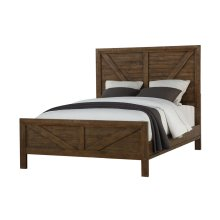 Queen Bed-hb-fb-rails & Slats-chest-nightstand