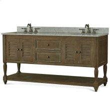 Cottage Master Vanity with sink & marble top