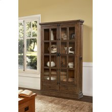 Tuscan Retreat® Double Door Cabinet (glass Front and Two Drawers) - Antique Pine